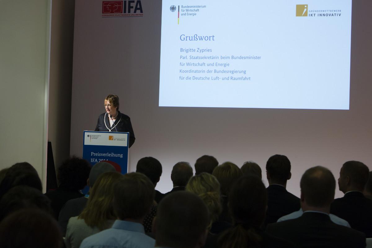 Preisverleihung Gründerwettbewerb IKT Innovativ IFA Berlin 2014 - Grußwort