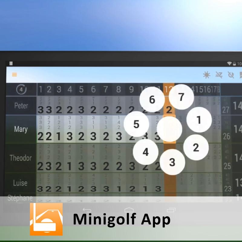 Android-App: Minigolf Punktekarte