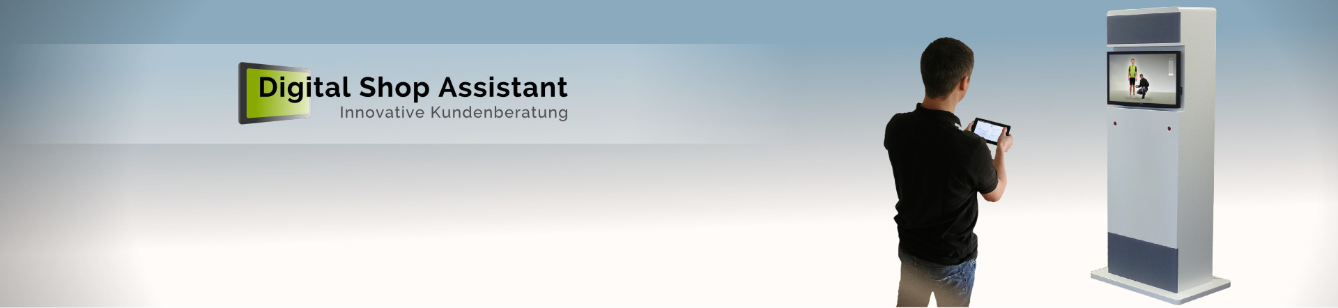Banner: Digital Shop Assistant - Innovative Kundenberatung