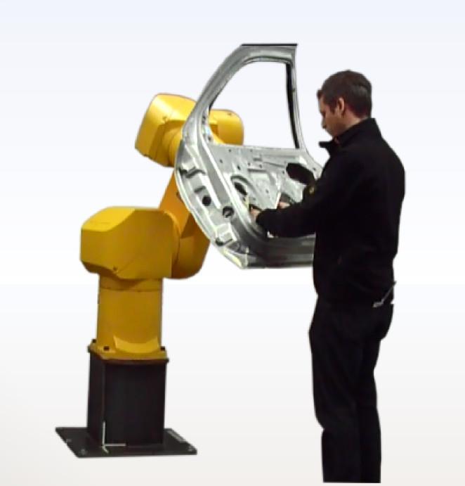 Beispielanwendung: Mensch/Roboter-Kooperation - Mensch und Roboter ein Team