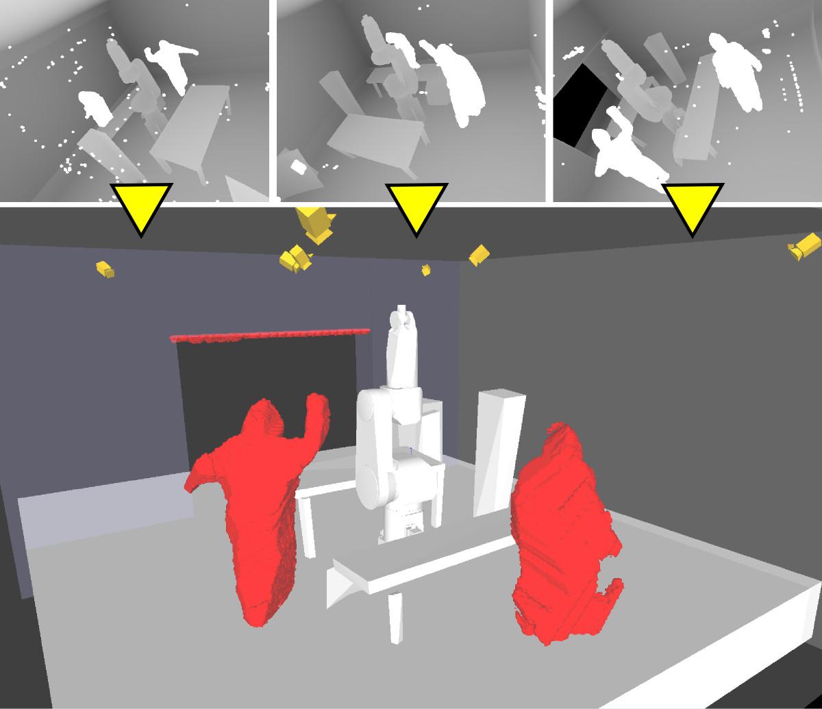 Kombination der Umweltmodellierung mit segmentierten Kamerabildern und anschließender 3D-Rekonstruktion